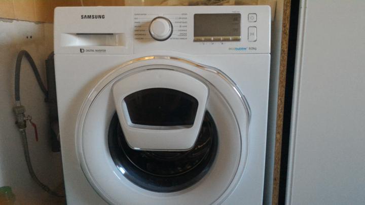 code barre lave linge samsung - Samsung Ww8ek6415sw Add Wash